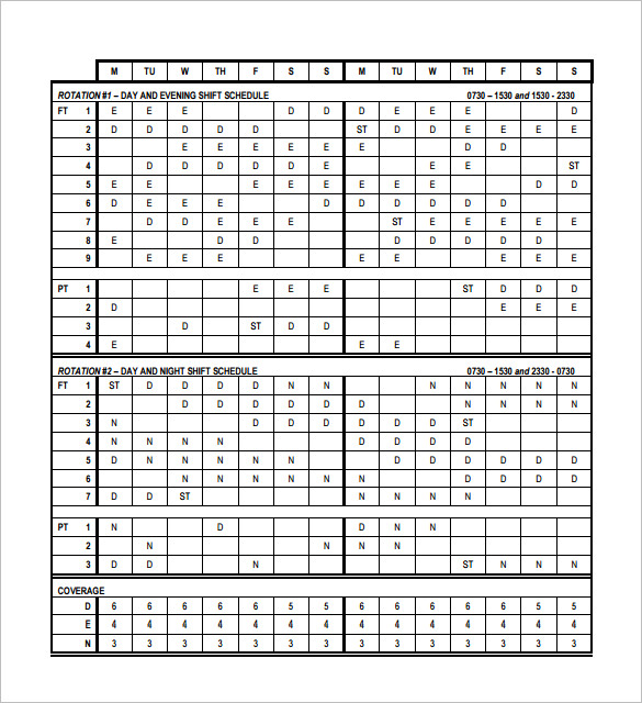 24 7 work schedule template - 24 7 shift schedule template planner template free
