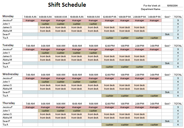 Hour Shift Schedule Template Planner Template Free - 24 hour staffing schedule template