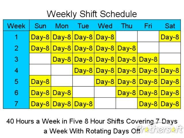 21 Team Fixed 8 Hour 6D Shift Schedule | 24/7 Shift Covarage