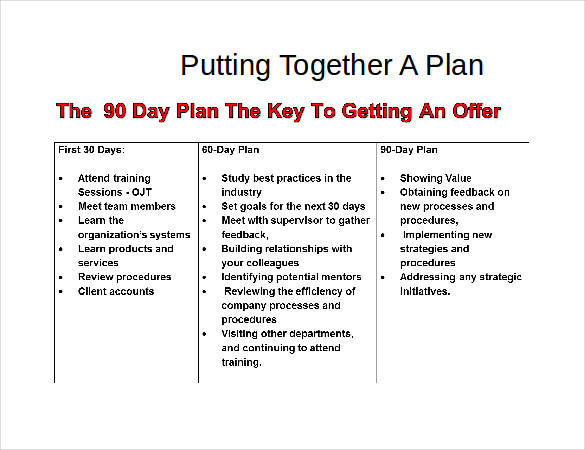 30 60 90 Day Plan Template 20+ Free Word, PDF, PPT, Prezi