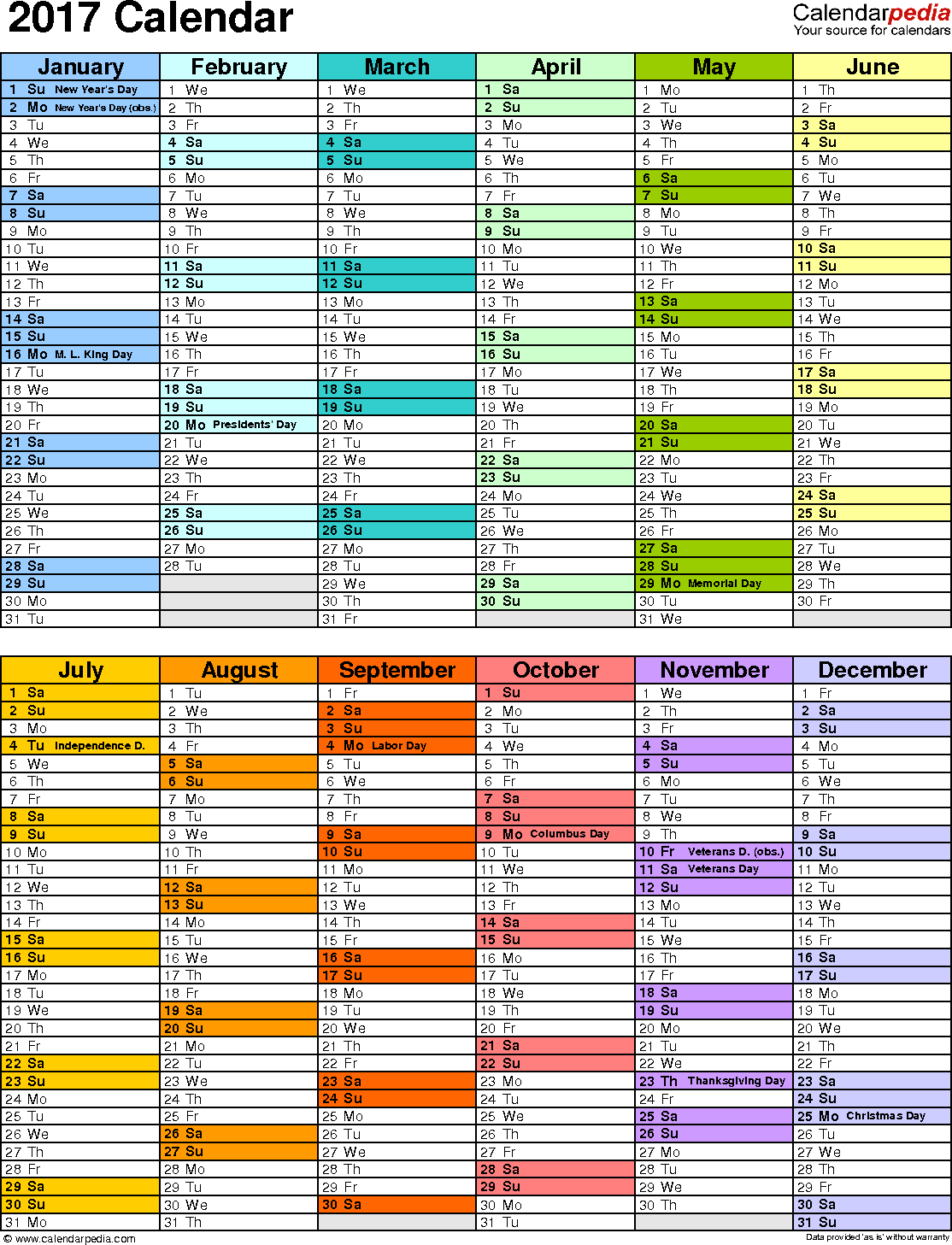 annual leave planner template 2017