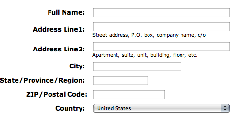 International Address Fields in Web Forms :: UXmatters