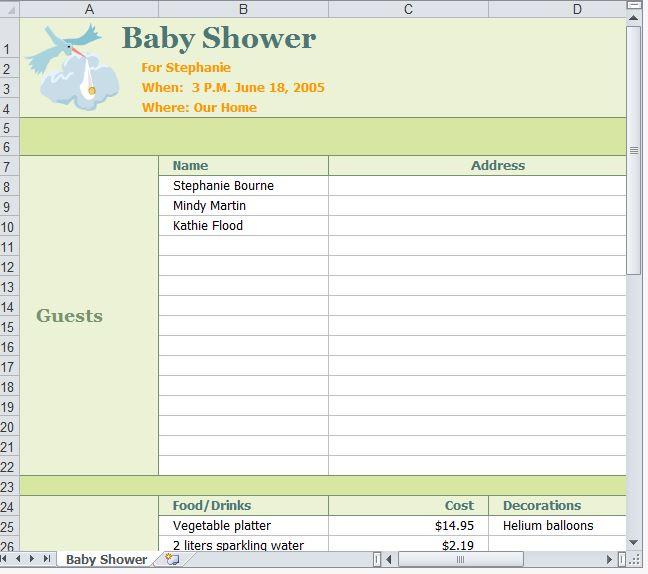 Baby Shower Planner | Baby Shower Event Planner