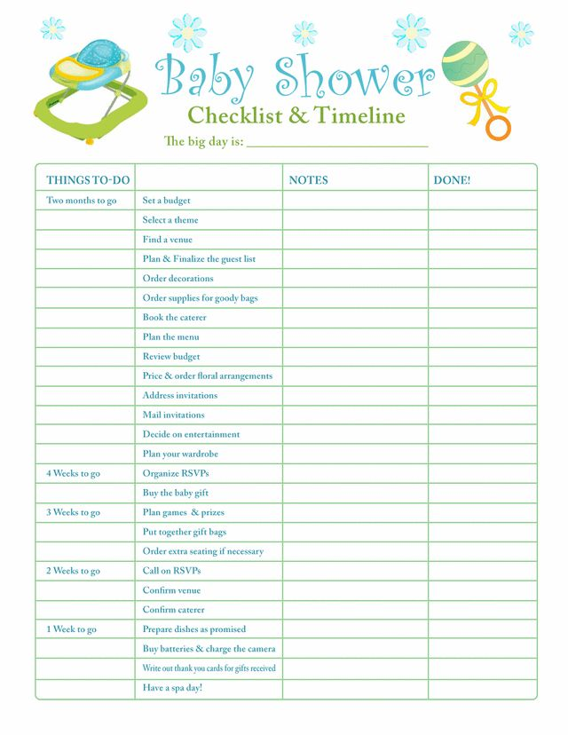 Interesting Baby Shower Planner Template 57 For Your Best Baby