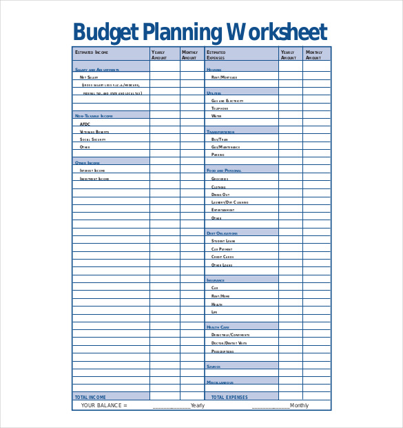 10+ Budget Planner Templates – Free Sample, Example, Format