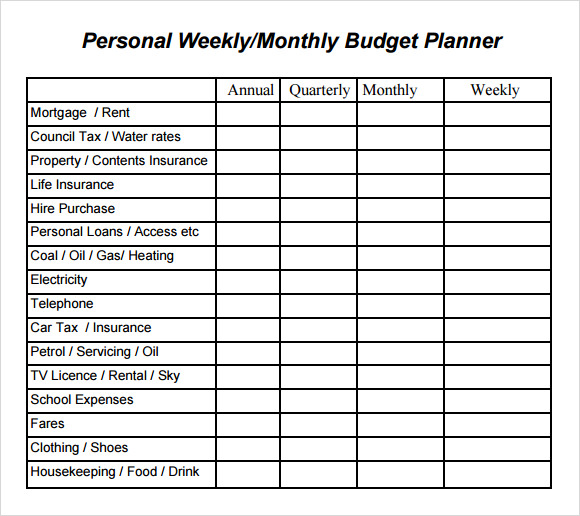 Budget Planner Template docx