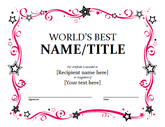 Certificate Templates | Free Word Templates