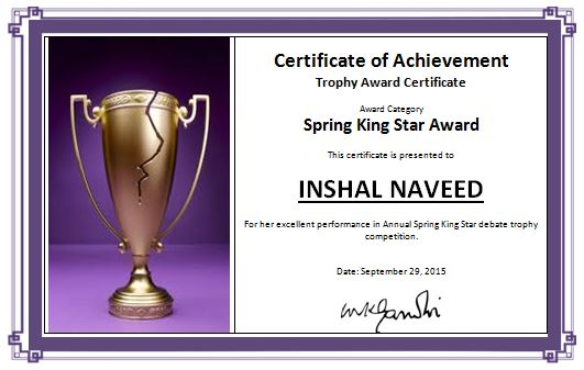 Awards Certificates Templates For Word : Masir