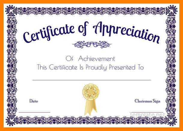 Certificates Templates Word