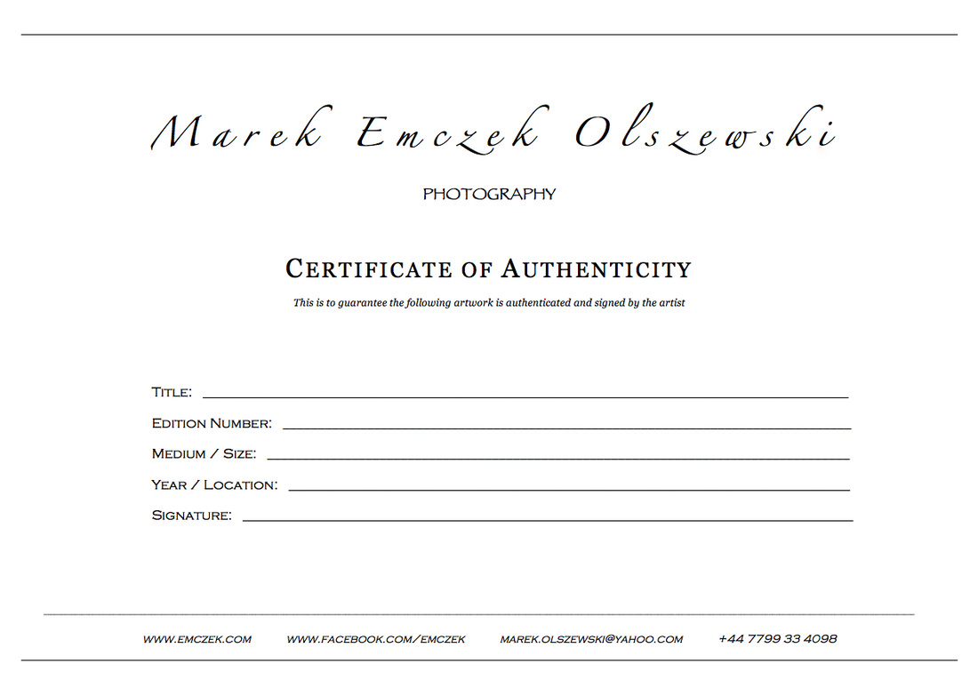 Certificate of authenticity photography planner template for Limited edition print certificate of authenticity template