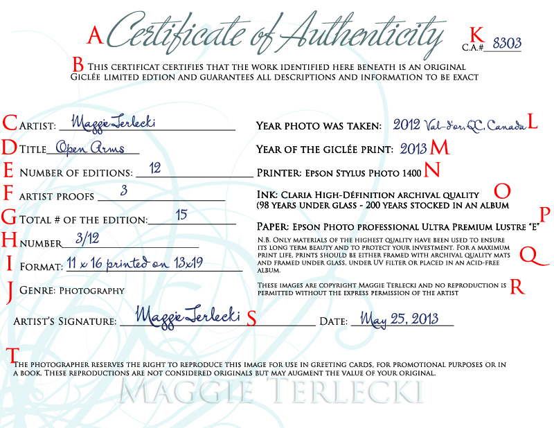 Certificate of Authenticity – how to create your own