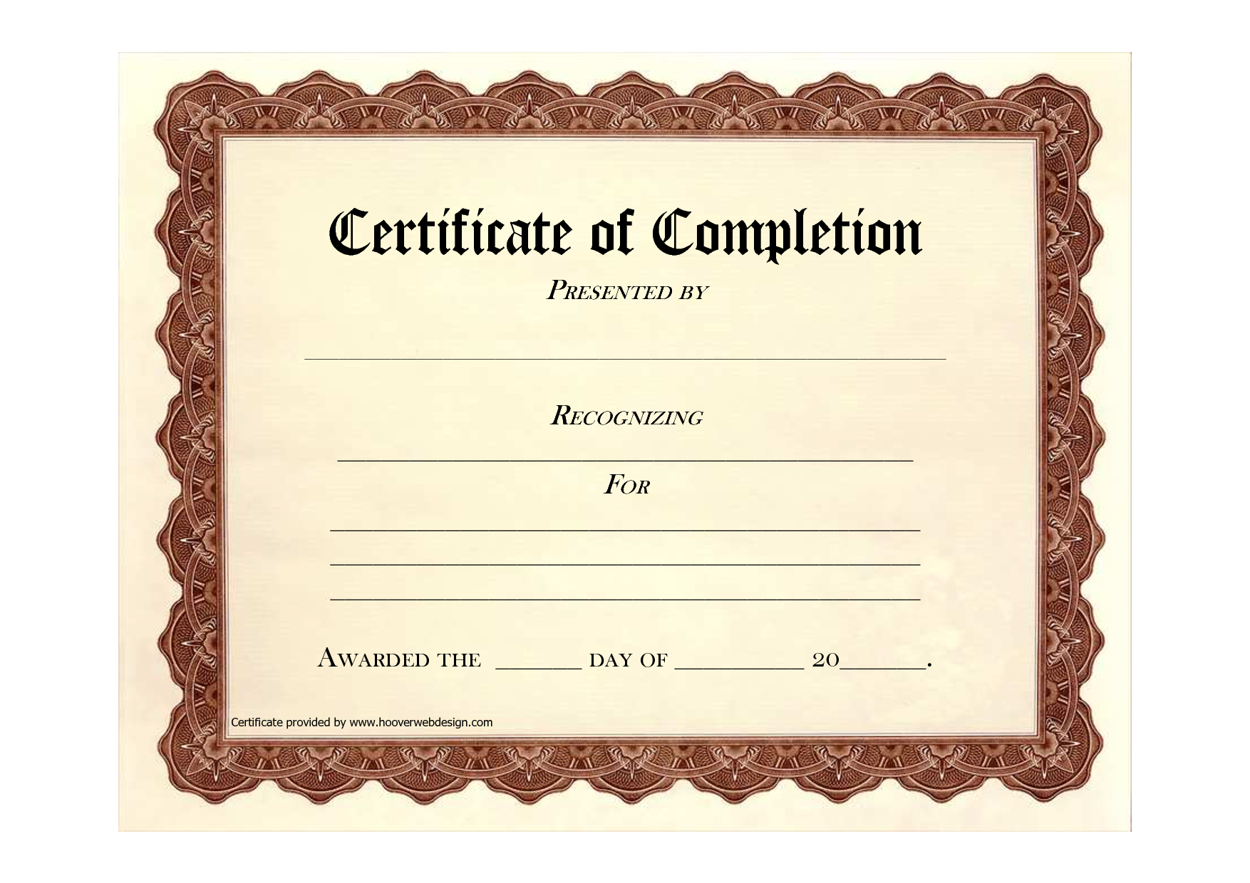 Free Word Certificate Templates & Wording  Geographics