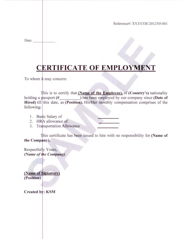 Employment certificate sample for visa application choice image sample certificate of employment and compensation hatch sample certificate of employment and compensation hatchurbanskript yadclub choice yelopaper Choice Image