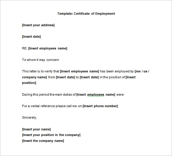Employment Certificate 36+ Free Word, PDF Documents Download