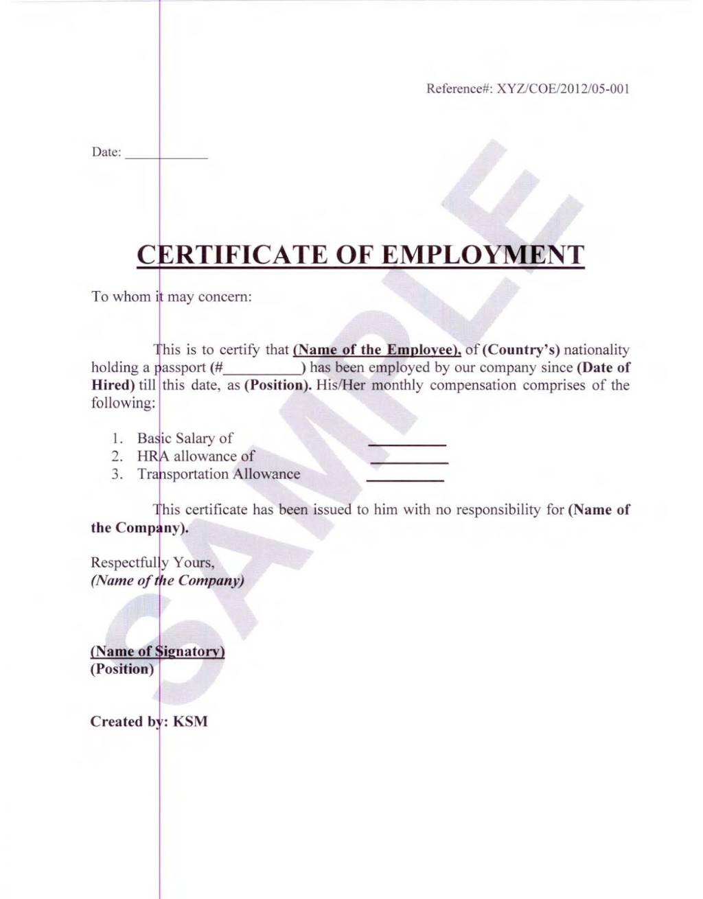 Salary Certificate Template 28+ Free Word, Excel, PDF, PSD