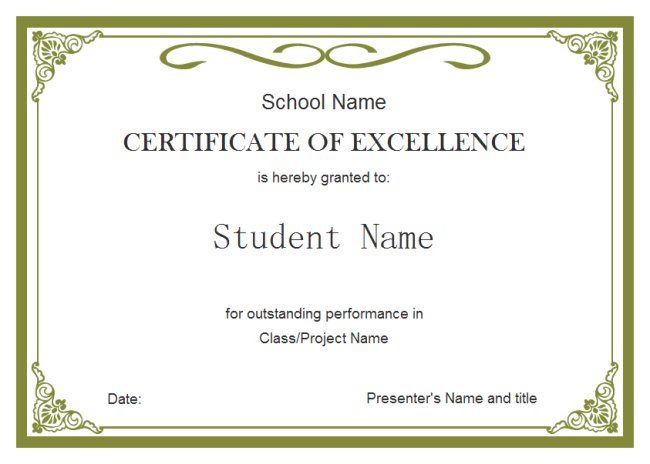 Student Certificate | Free Student Certificate Templates