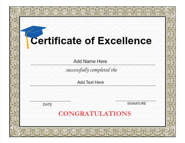 Graduation Certificate Templates Customize with iClicknPrint