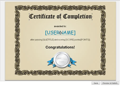 How to Create Certificates for Quiz takers