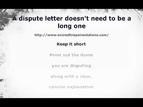 Tips on Writing a Dispute Letter to a Collection Agency YouTube
