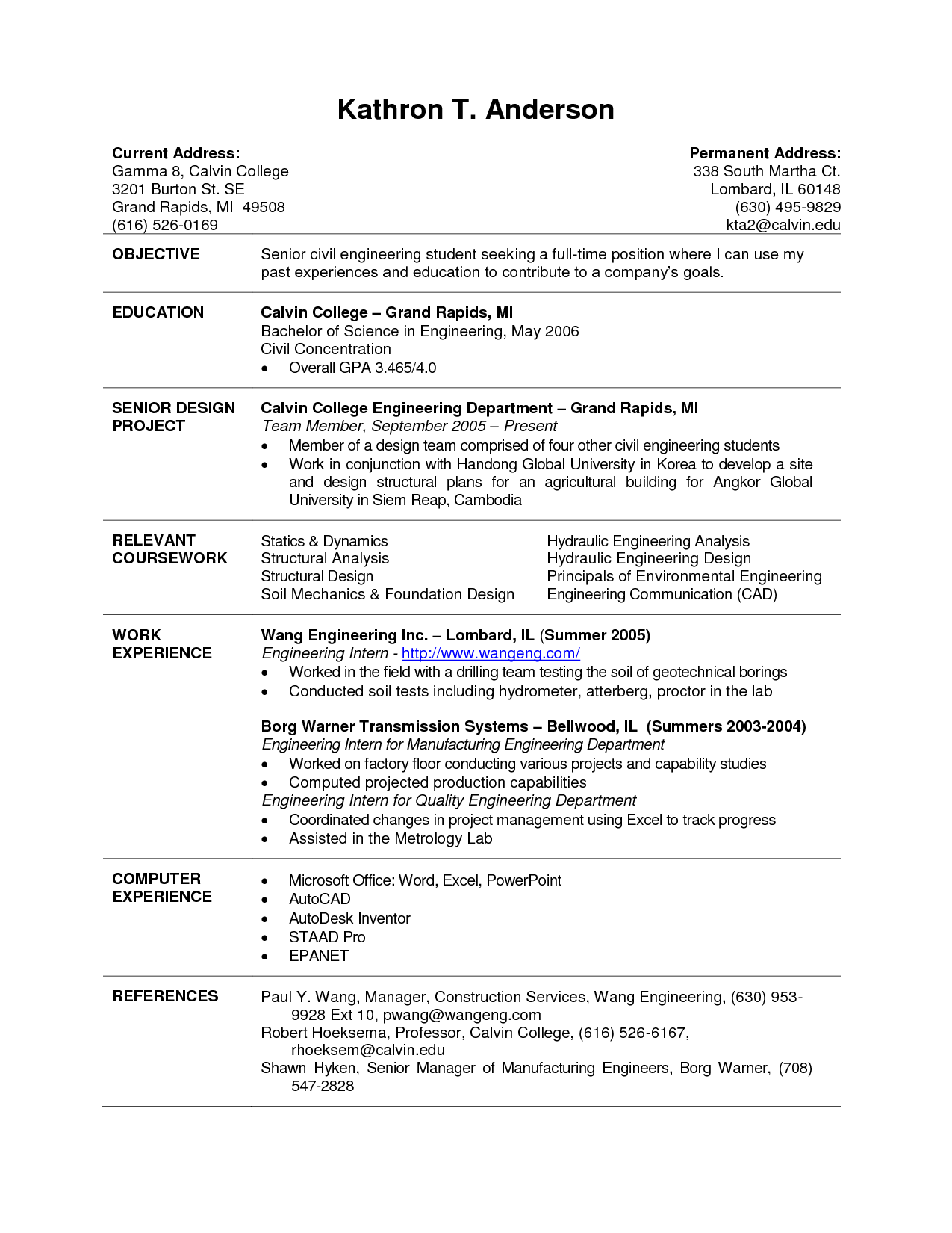 current college student resume  u2013 planner template free