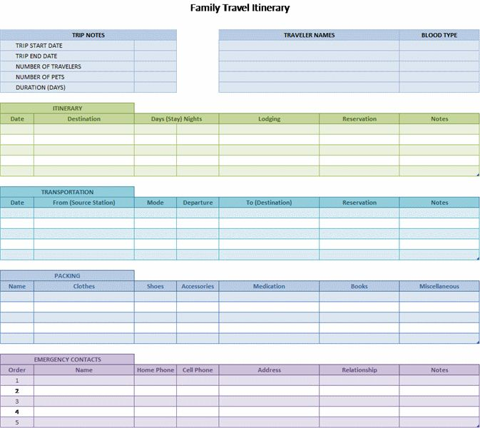 customer visit planner template