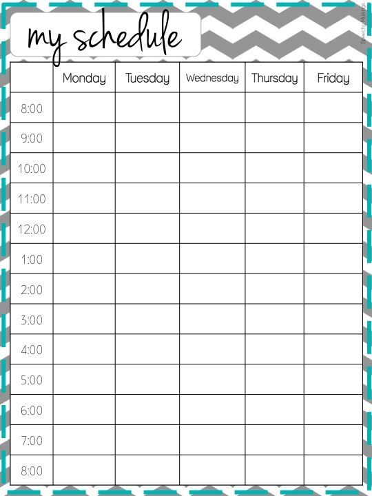 cute class schedule maker  u2013 planner template free