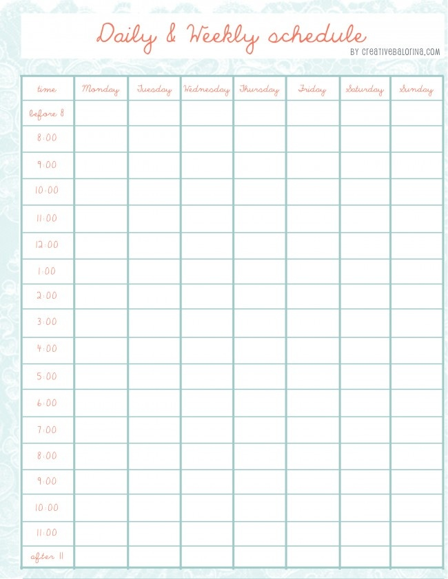Free School Schedule Maker  BesikEightyCo