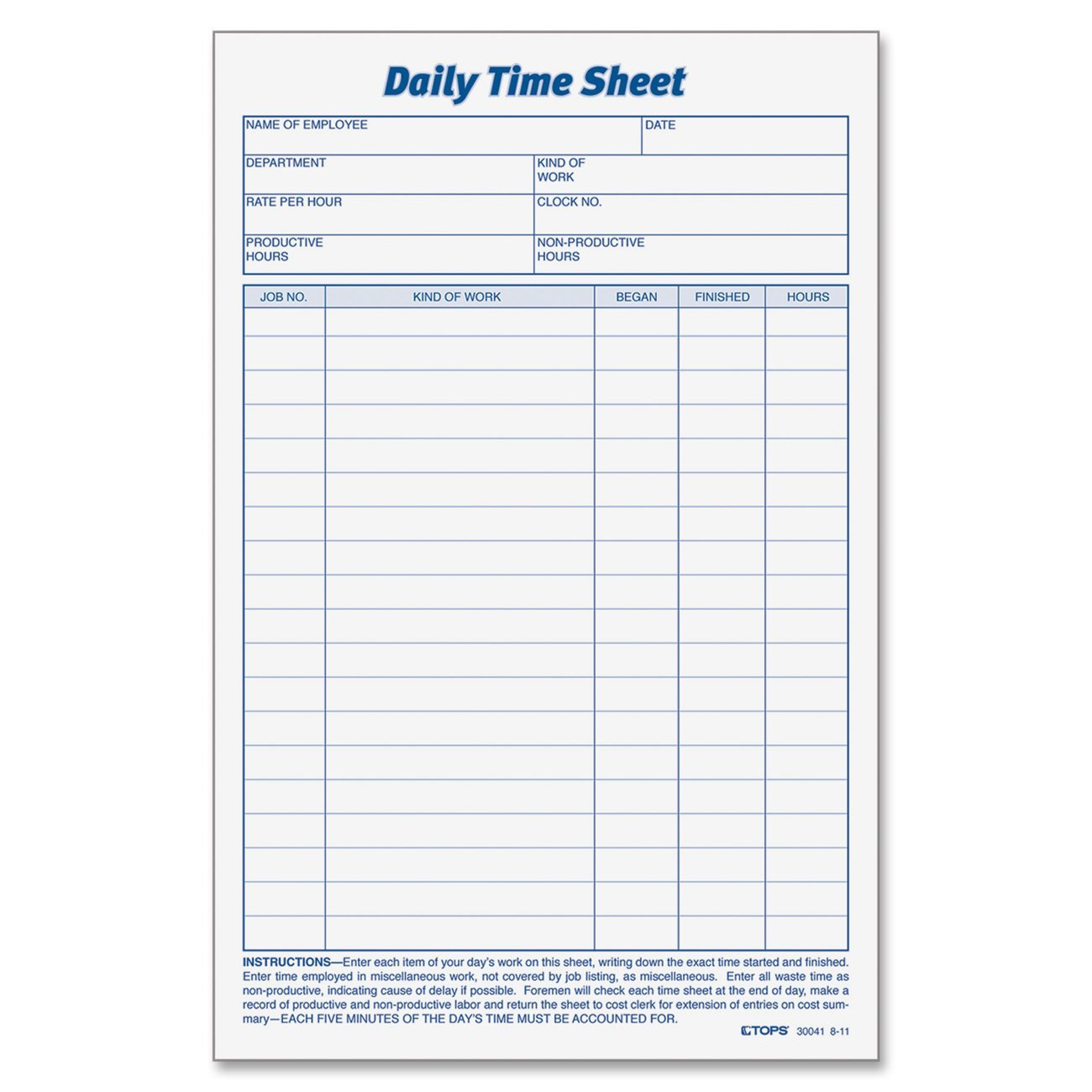 27 Daily Log Templates in Word