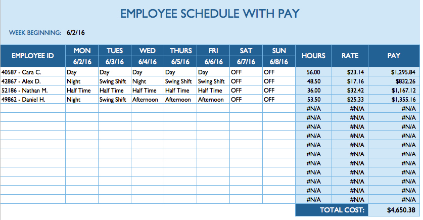 daily task sheet for employee planner template free