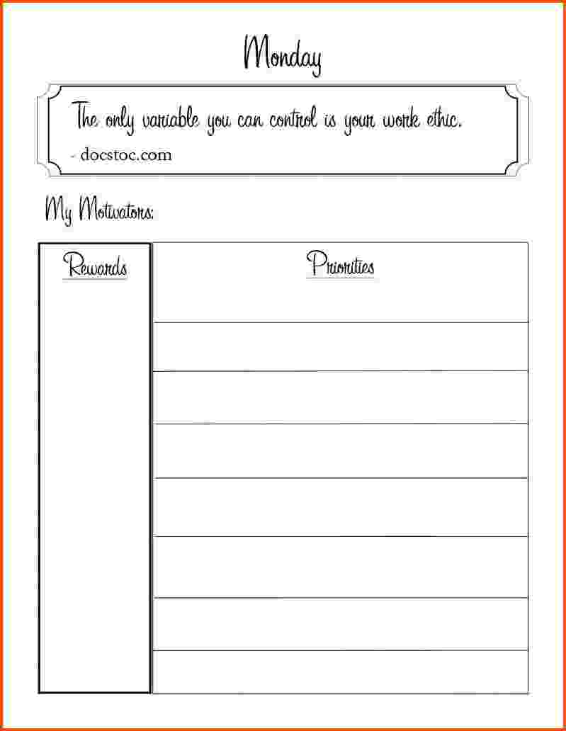 daily task sheet for employee  u2013 planner template free