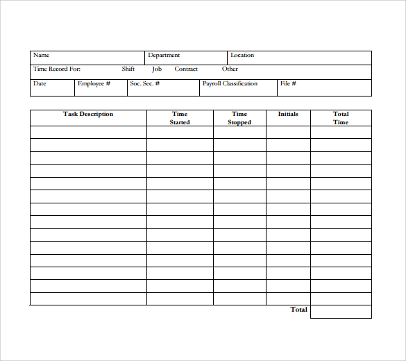12+ Daily Timesheet Templates – Free Sample, Example Format