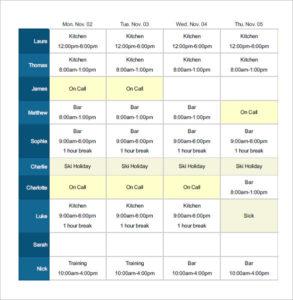 shift work schedule generator