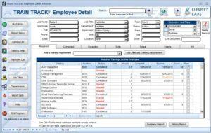 track employee training