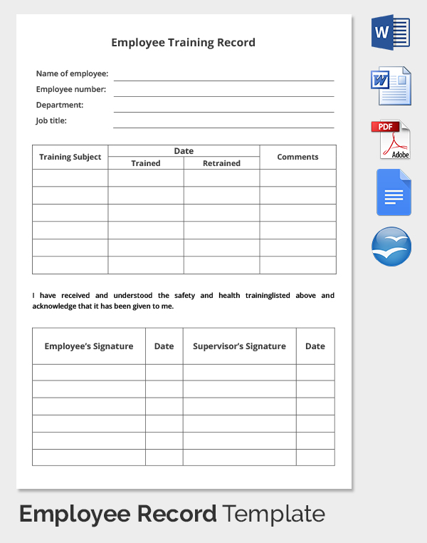 Employee training tracker Templates Office.| online