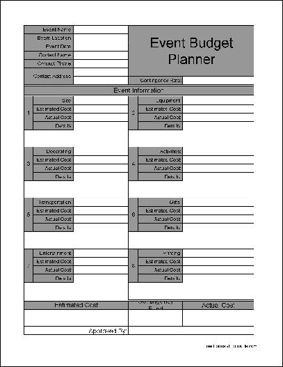 Fieldstation.co  Free Event Planner Template