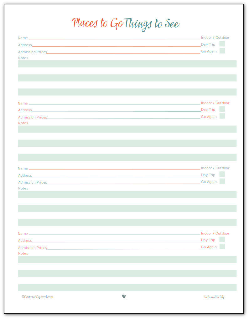 Family Vacation Planner Template | eXLtemplates