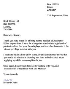 Business Letter Example For Students | Free Business Template