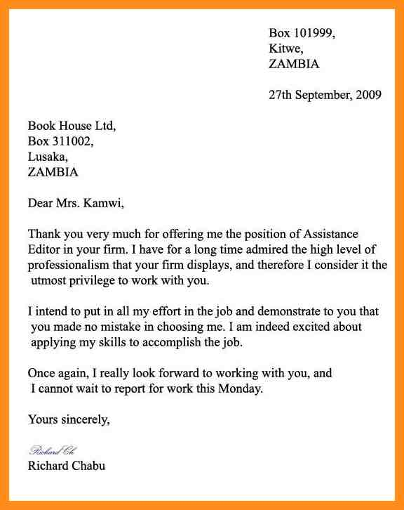 Formal Letter Example. Formal Letter Example For Students Formal