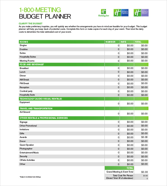 Budget Planner Template – 9+ Free Word, Excel, PDF Documents