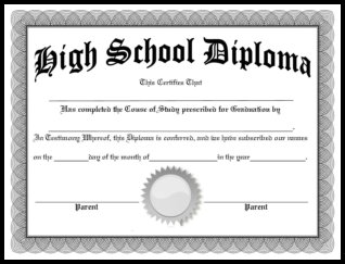 It is an image of Sassy Printable Diploma Templates
