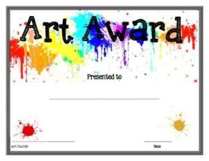 free printable awards and certificates