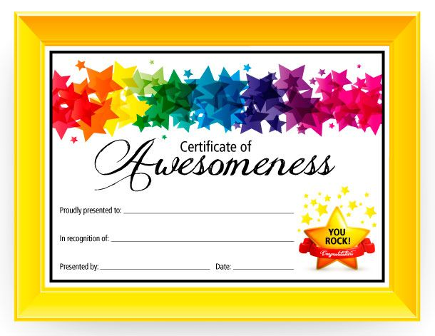 Printable Kids Award Certificate Templates | *Printable