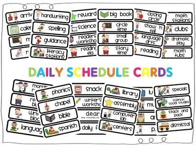 Best 25+ Free schedule cards ideas on Pinterest | Visual schedule