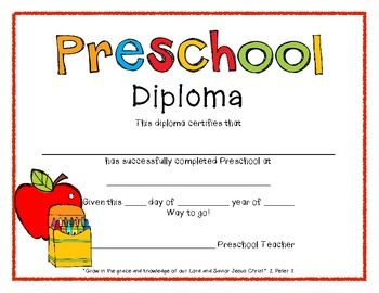 image relating to Free Printable Graduation Certificates referred to as Absolutely free Printable Preschool Commencement Certificates planner