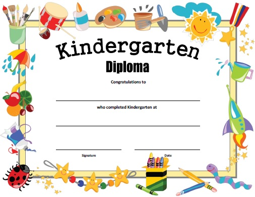 Free Printable Preschool Diplomas | Sunday school | Pinterest