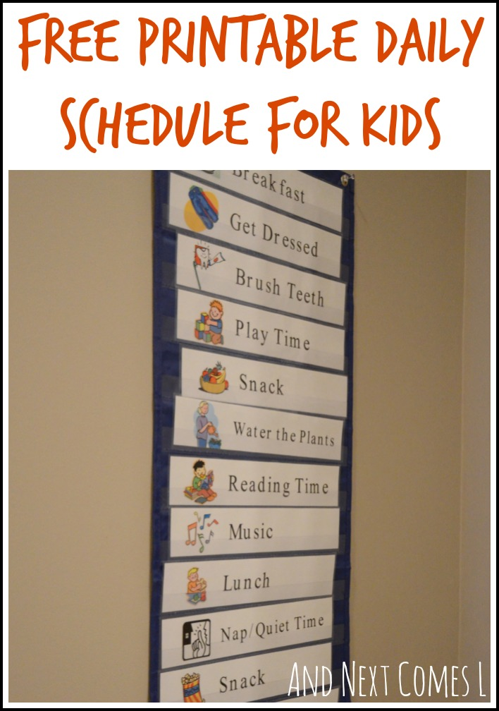 Free Printable Visual Schedule For Preschool