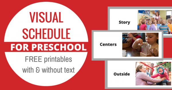 Free Printable Visual Schedule For Preschool No Time For Flash Cards