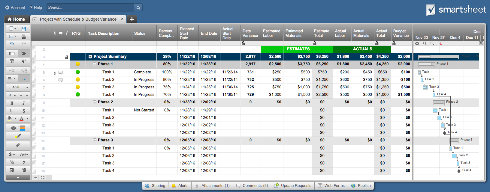 Free Project Tracking Template for Excel 2007 2016