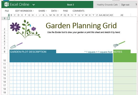 Free Garden Planner Template For Excel Online