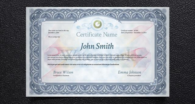 Psd Print Certificate Template | Misc Print | Pixeden